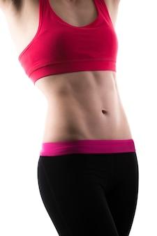 Mujer con los abdominales marcados