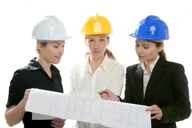 Mujer arquitectos trabajando, aislado