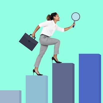 Mujer en busca de una mejor oportunidad.