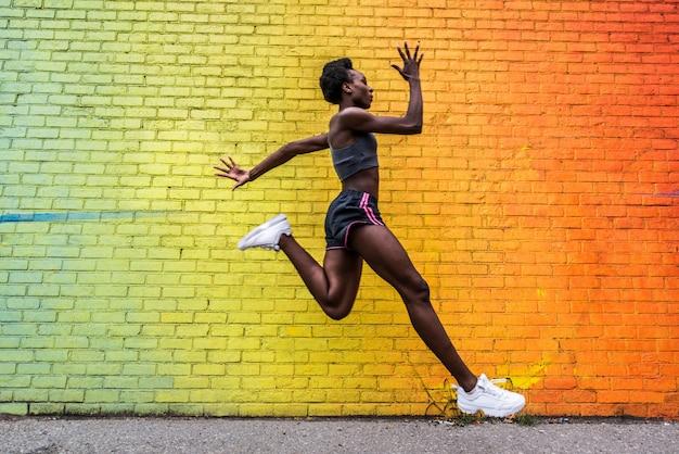 Mujer corriendo en nueva york