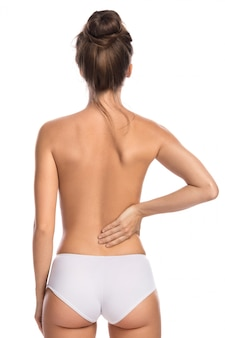 Mujer con dolor lumbar