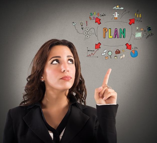 Mujer con expresión pensativa indica un patrón
