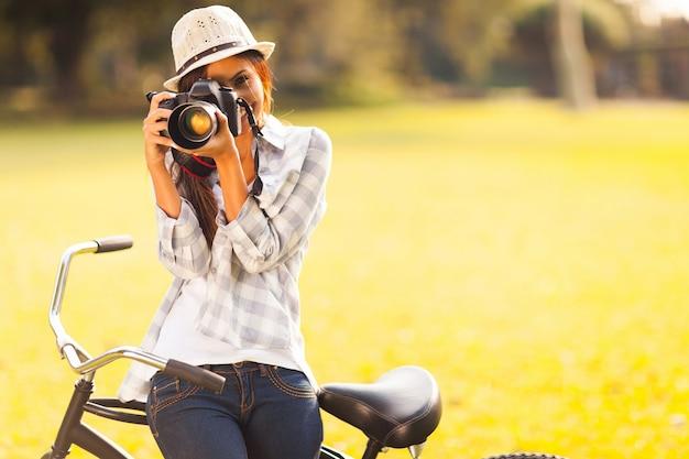 Mujer de fotografia