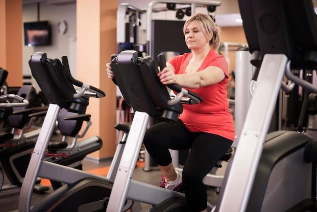 Mujer, en, gimnasio
