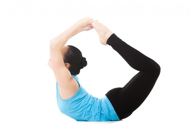 Mujer haciend yoga