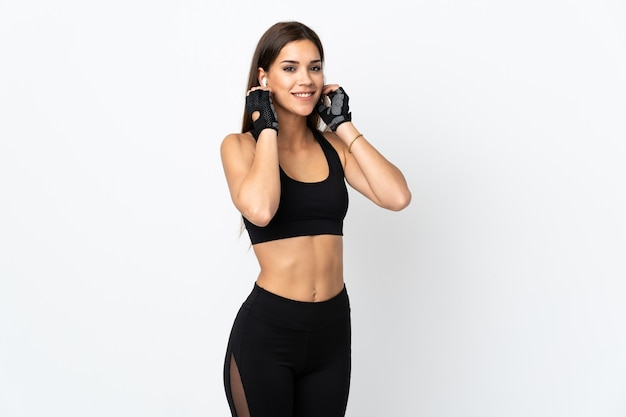 Mujer joven, deporte