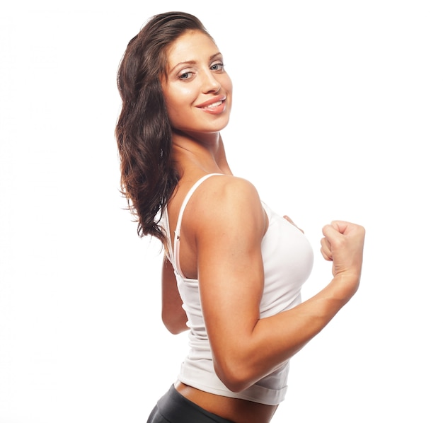 Mujer joven hermosa fitness