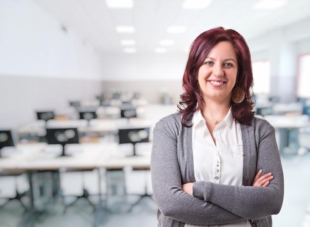 Mujer profesora retrato