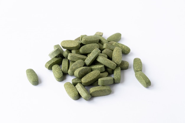 Multivitamina. color verde.