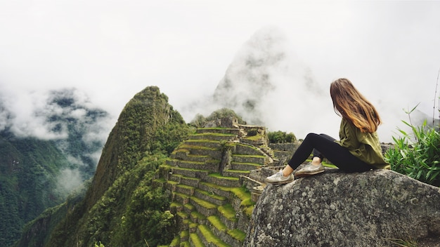 Mundo maravilla machu picchu y montañas de los andes