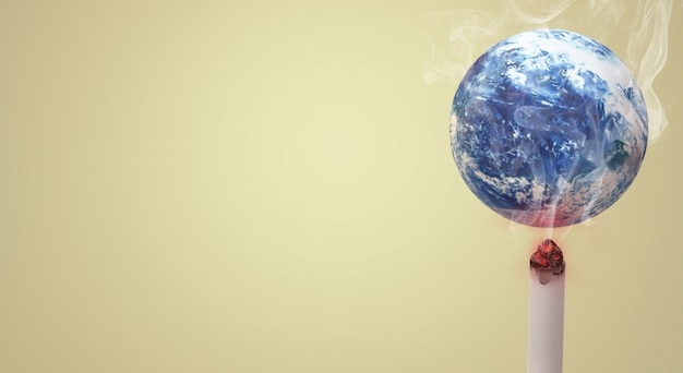 El mundo de renderizado 3d sin fondo de imagen día del tabaco.