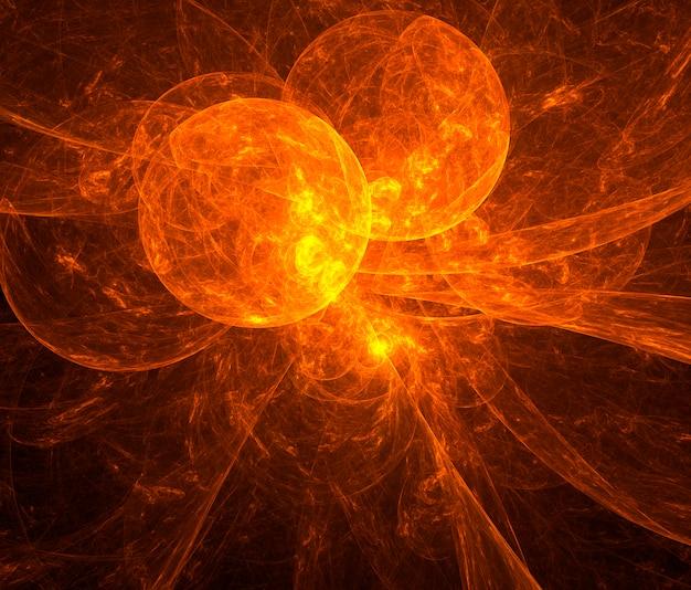 Mundos rotos. diseño fractal abstracto.
