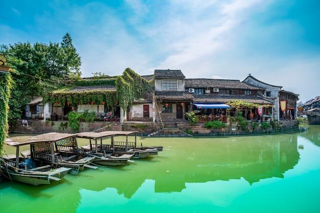 Municipio de agua de jiangnan en la antigua ciudad de zhejiang