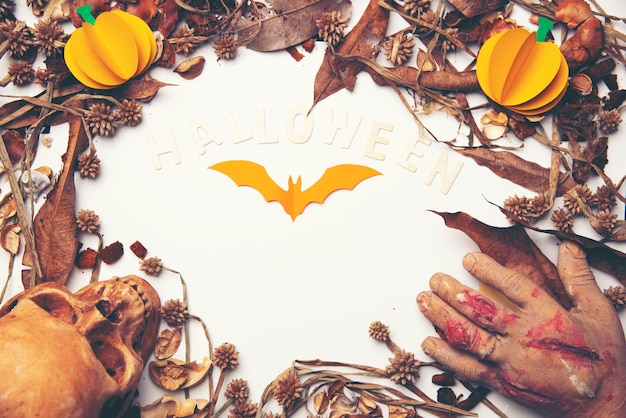 Murciélagos de halloween en el fondo