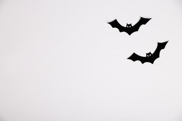 Murciélagos de papel decoración de halloween