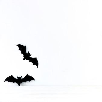 Murciélagos de papel para halloween