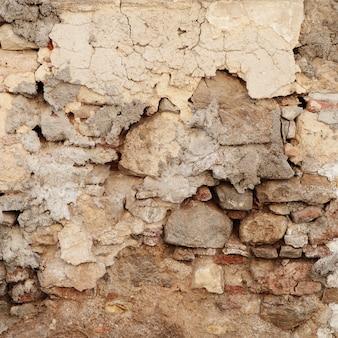 Muro de hormigón agrietado