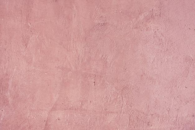 Muro de hormigón de color rosa