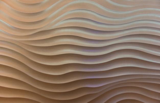 El muro de hormigón de patrón de onda.