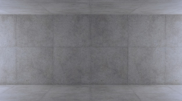 Muro de hormigón vacío, render 3d