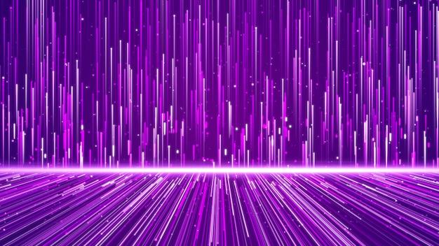 Muro de líneas estructura formas geométricas y partículas de color púrpura. elemento de diseño creativo resumen de antecedentes.