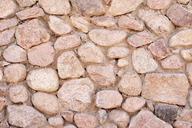 Muro de mampostería de piedras, trama de fondo de textura