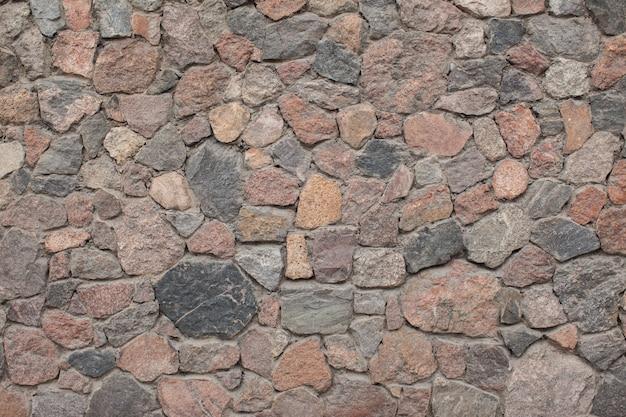 Muro de piedra al aire libre