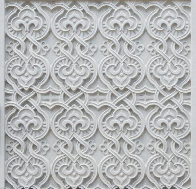 Muro de piedra decorativa blanca