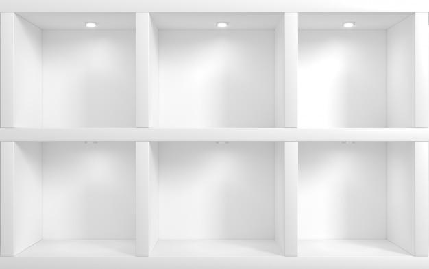 Muro de tienda con estanterías
