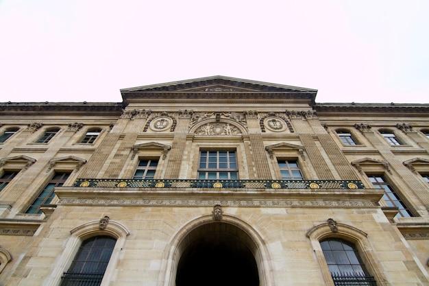Museo del louvre en parís, francia
