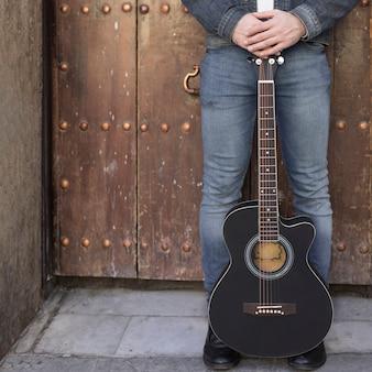Música de guitarra al aire libre