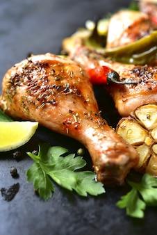 Muslos de pollo a la parrilla