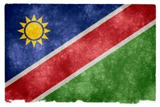 Namibia grunge bandera nación