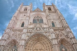 Nantes catedral hdr collumns