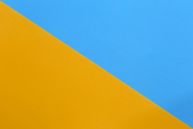 Naranja y azul de papel de arte de cartón.
