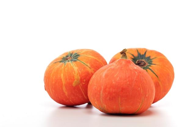 Naranja calabaza sobre fondo blanco.