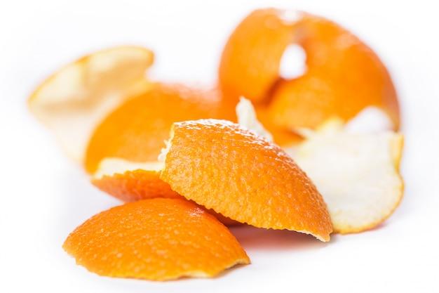 Naranja pelada y su piel