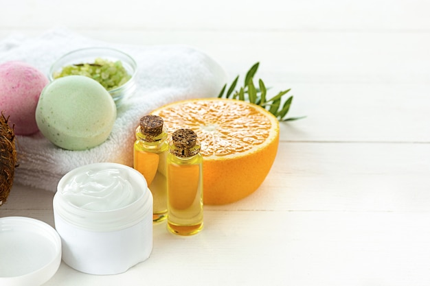 Naranjas aceite y naranja