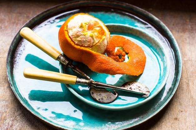 Naranjas y cuchillos vintage
