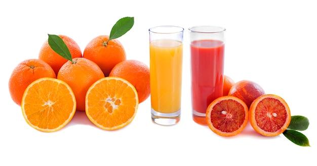 Naranjas y jugo de naranja