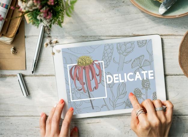 Naturaleza floreciente de las artes y los oficios florales