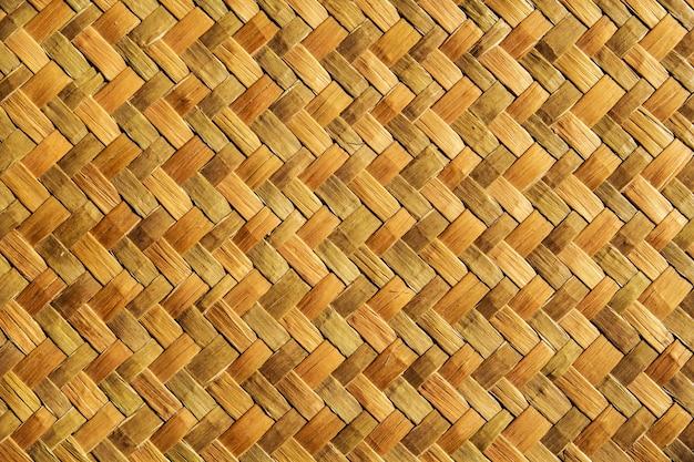 Naturaleza material de bambú de fondo tejer patrones magníficos.