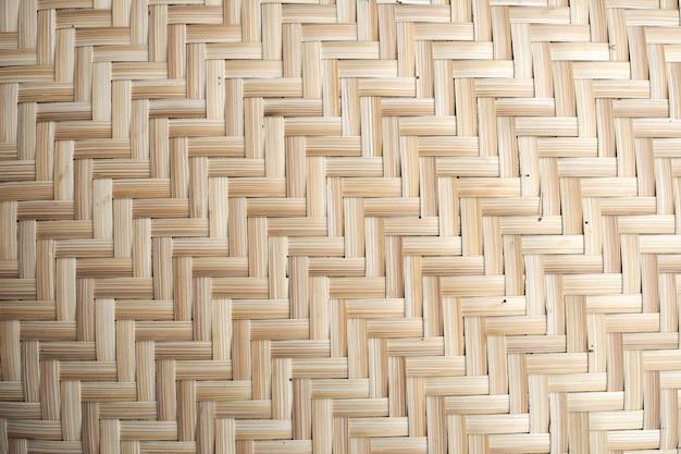 Naturaleza de textura de patrón de bambú tejido para el fondo