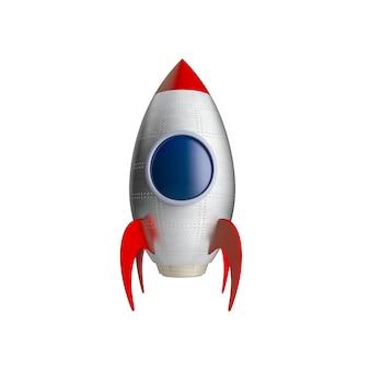 Nave espacial aislada en blanco
