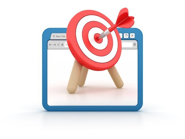 Navegador de internet con target