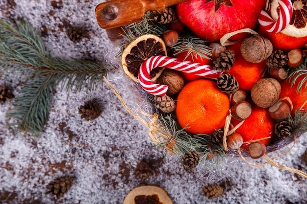 Navidad año nuevo composición