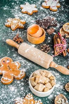 Navidad y año nuevo fondo para hornear