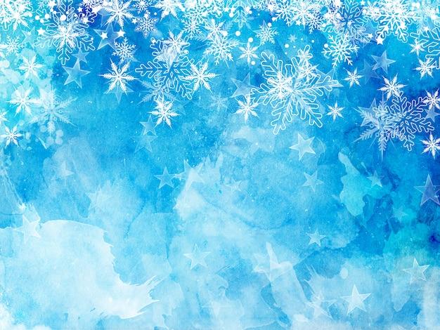 Navidad copos de nieve y estrellas