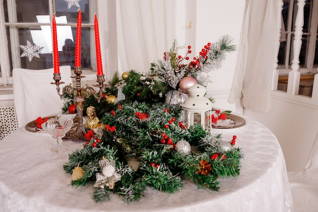 Navidad decorativa para mesa