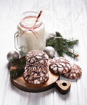 Navidad galletas de chocolate crujientes